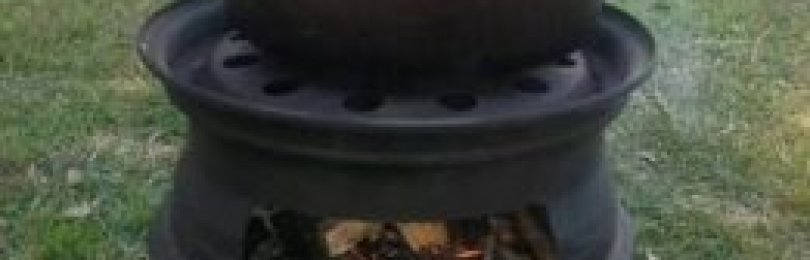 Мангал из дисков автомобиля – компактное решение для пикника