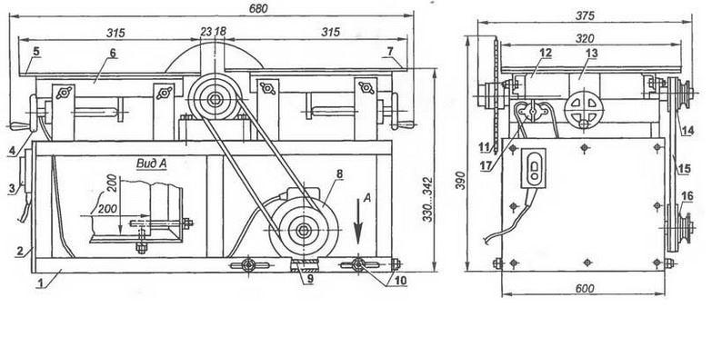 Как сделать деревообрабатывающий станок своими руками чертежи