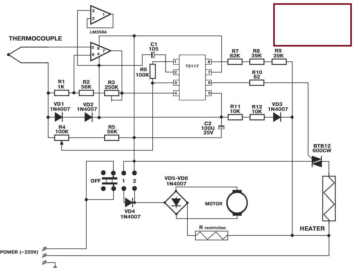схема терморегулятора климат контроля