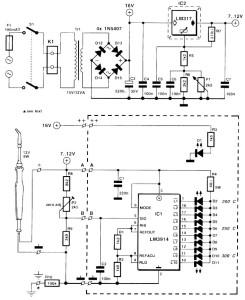 электросхема для паяльника с регулировкой температуры и индикатором