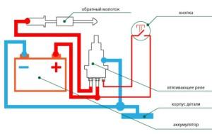 Электрическая схема споттера из аккумулятора