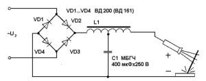 Электрическая схема выпрямителя