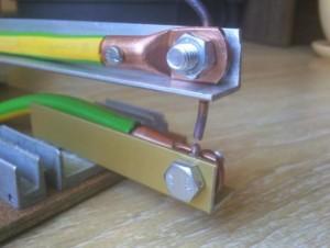 Пример крепления медного электрода
