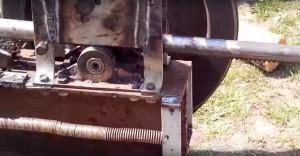 станина реечного дровокола