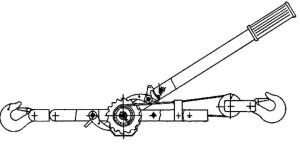 чертеж рычажной лебедки