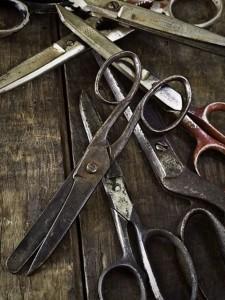 старые ножницы