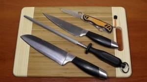 ножи с различными видами лезвий