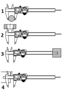 измерение размеров инструментов