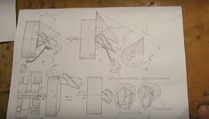 схема заточки углов сверла