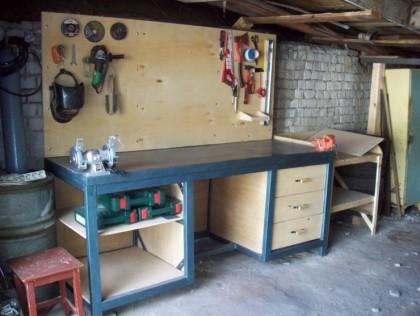 Стол верстак своими руками для гаража