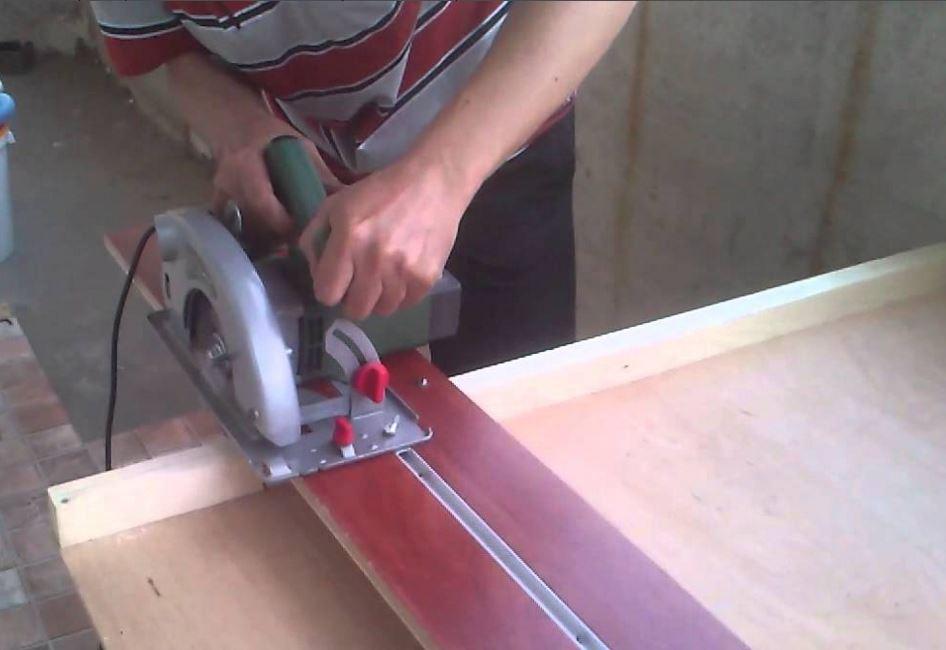 Направляющая шина для дисковой пилы своими руками