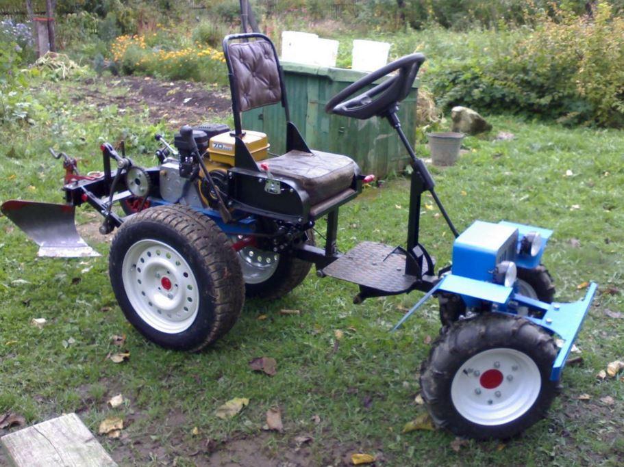купить самоделный мини трактор мотоблок вариант