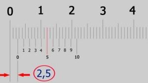 пример снятие размера по шкале штангенциркуля