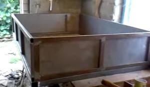 предварительная сборка кузова тележи