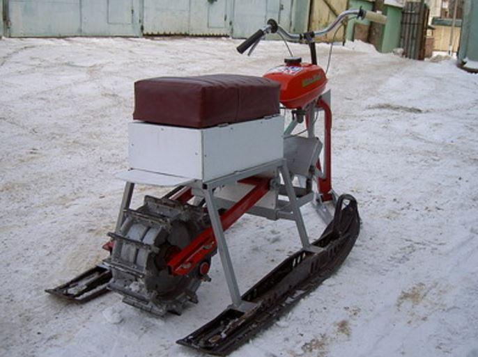 Как сделать самодельный мини снегоход