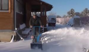самодельный снегоуборщик из мотоблока