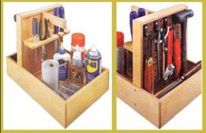 органайзер для хранения инструмента из фанеры