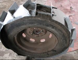 самодельные грунтозацепы на шину
