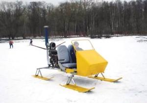 снегоход на лыжах