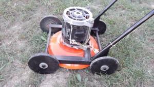 самодельная гахонокосилка из электродвигателя