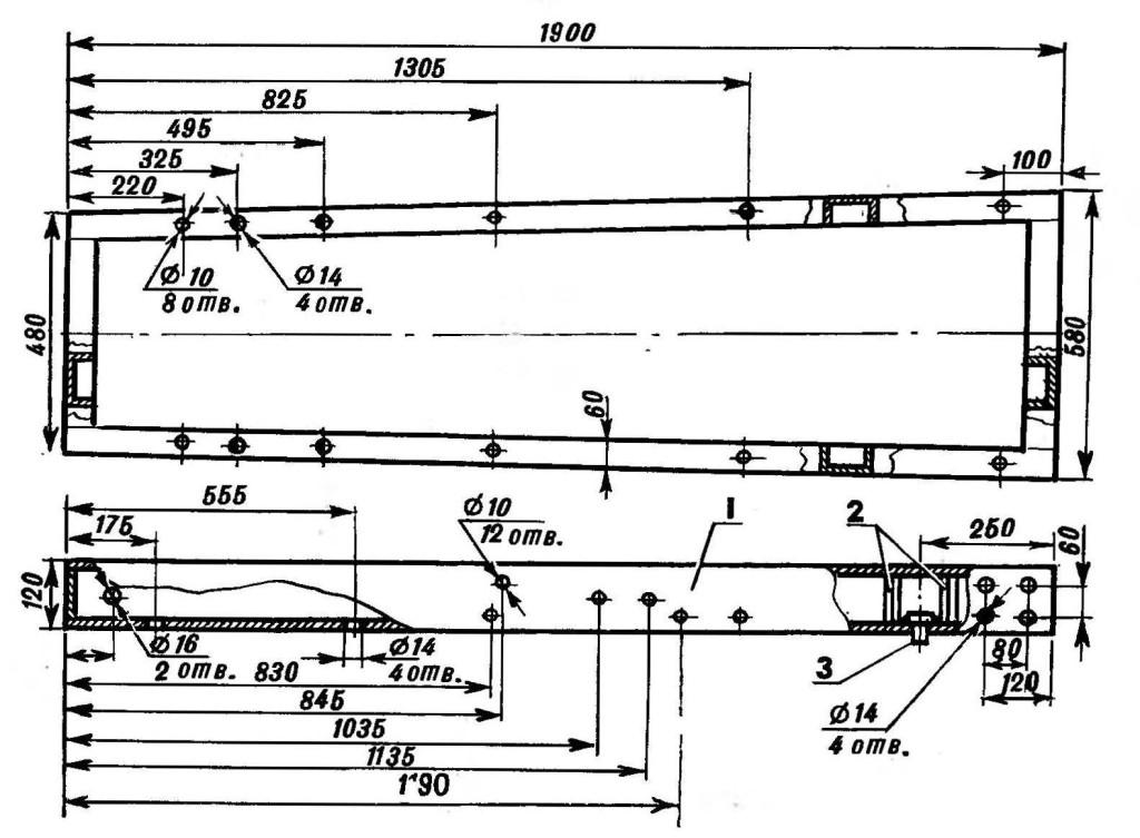 чертеж рамы для стационарной пилорамы