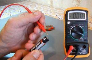 Измерение мощности батарейки