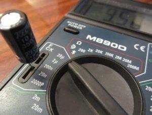 измерение емкости конденсатора мультиметром