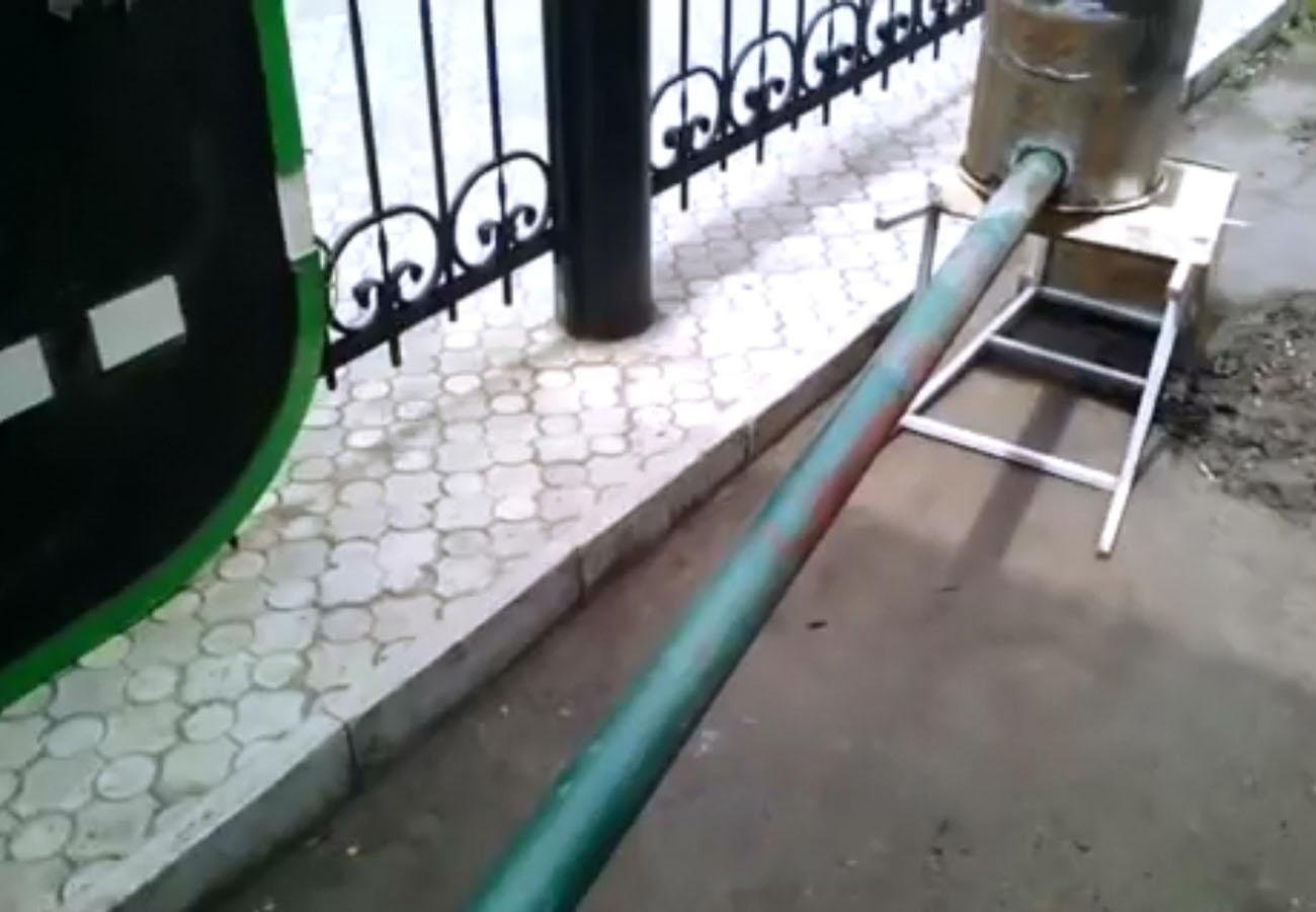 дымоход для коптильни из трубы