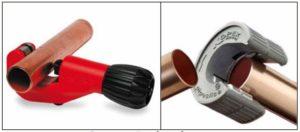 применение трубореза для резки медных труб