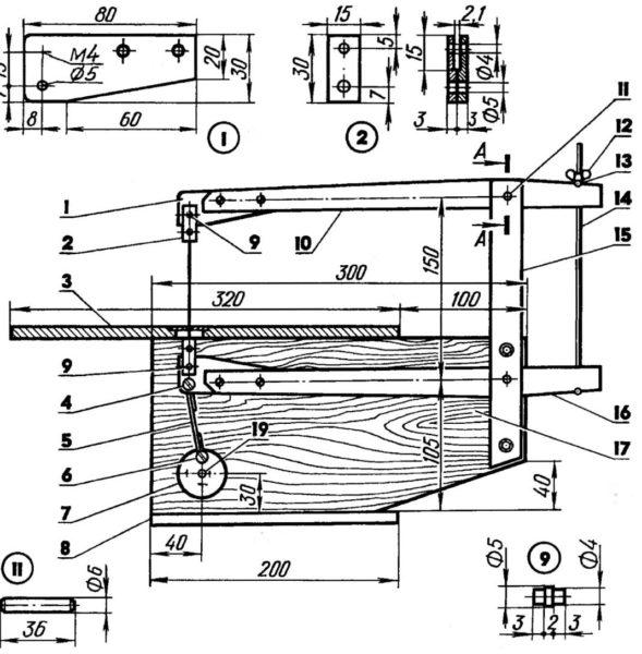 чертеж лобзикового станка