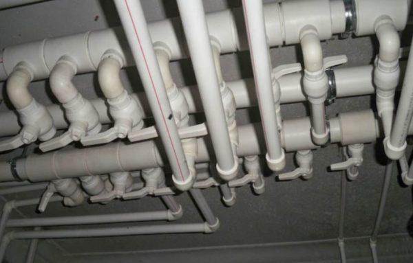 разводка горячей воды из полипропиленовых труб