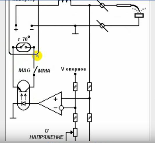 схема установки установкой оптронной пары