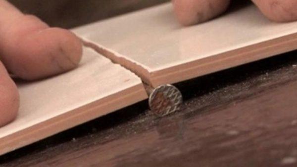 как ровно сломать плитку
