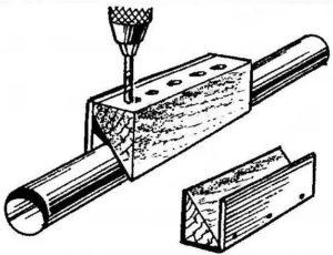 кондуктор из бруска дерева
