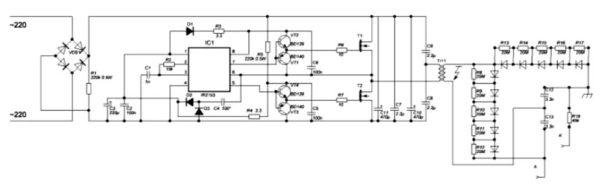 электрическая схема лазерного резака