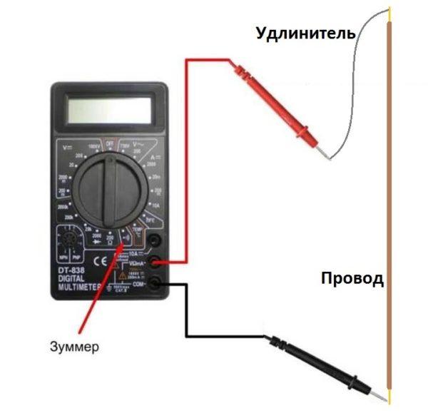 прозвон проводов мультиметром