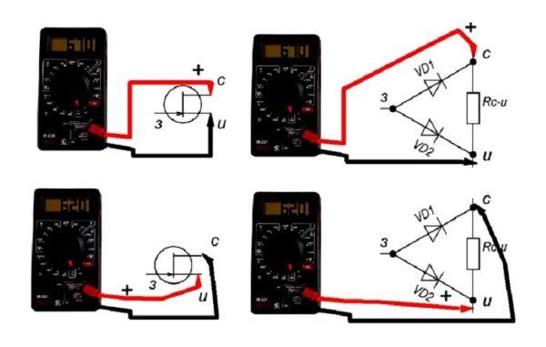 проверка полевого транзистора тестером
