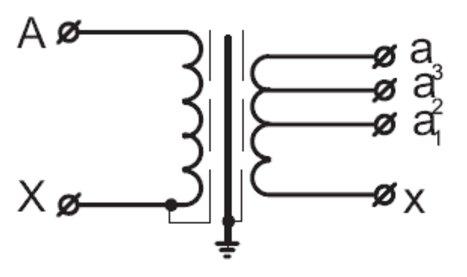 схема вторичной обмотки
