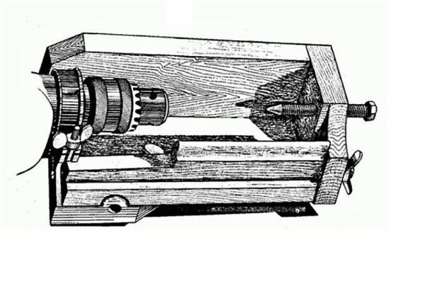 Токарный станок по дереву чертежи из дрели