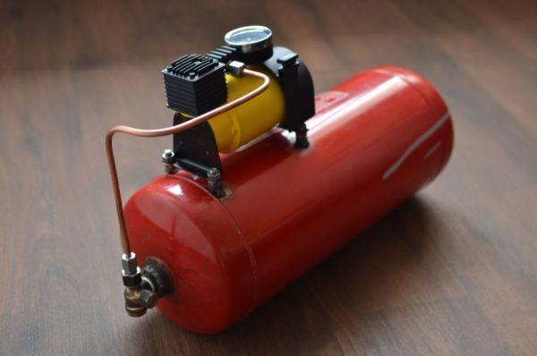 Воздушный компрессор от автокондиционера своими руками