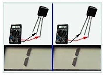 замер сопротивления на транзисторе