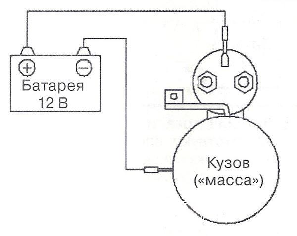 Проверка стартера от аккумулятора напрямую видео