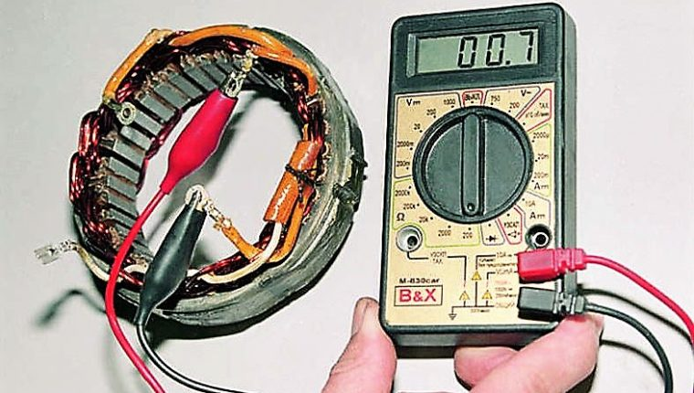 проверка статора мультиметром