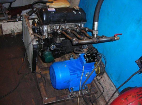 самодельный компрессор из двигателя автомобиля