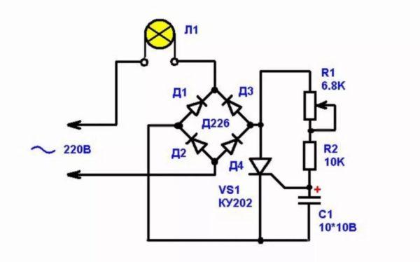 Диммер для светодиодной лампы 220в своими руками