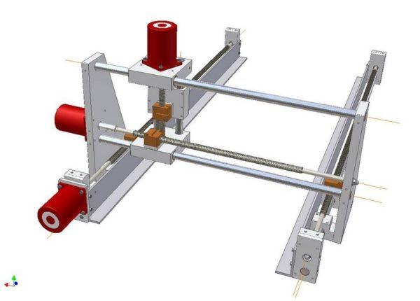 трехмерная модель станка с ЧПУ