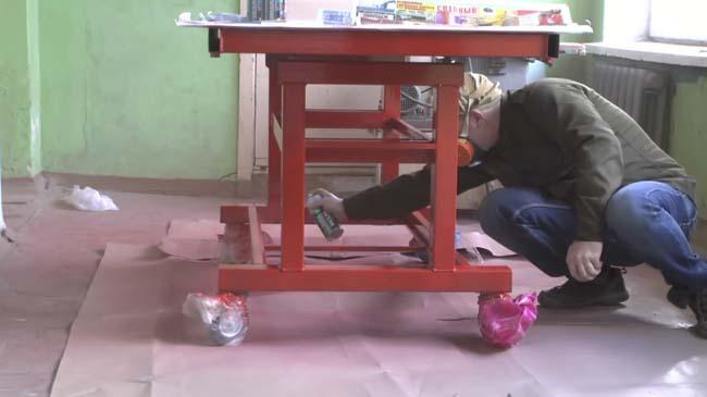 окрашиваем сварочный стол