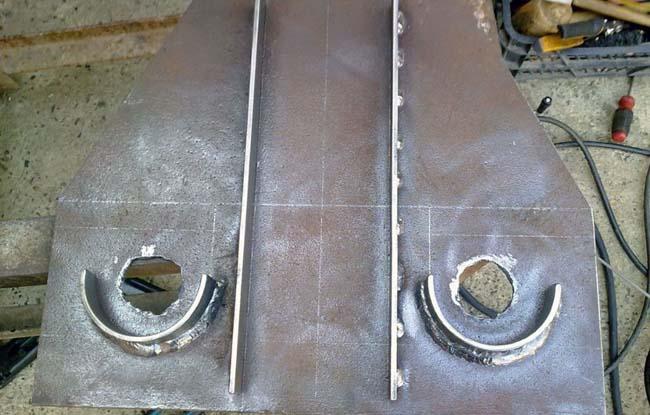 шаблон для гибки из стального листа