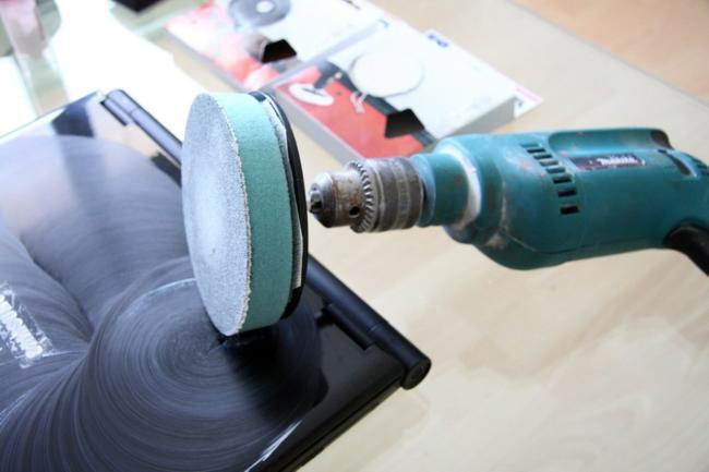 насадка на дрель для шлифовки поверхностей