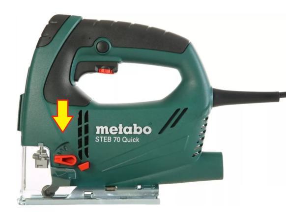 регулировка маятникового механизма электролобзика Metabo